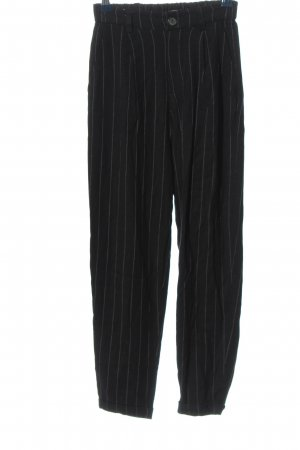 Pull & Bear Jersey Pants black-white allover print casual look