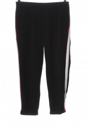 Pull & Bear Jersey Pants black-white striped pattern casual look