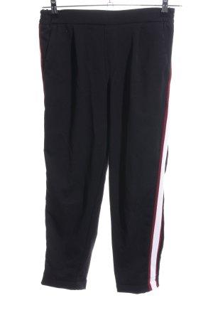Pull & Bear Stoffhose schwarz Streifenmuster Casual-Look