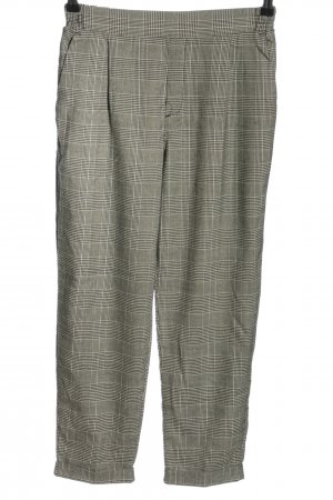 Pull & Bear Jersey Pants white-light grey check pattern business style