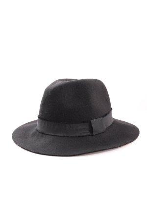 Pull & Bear Chapeau en feutre noir style décontracté
