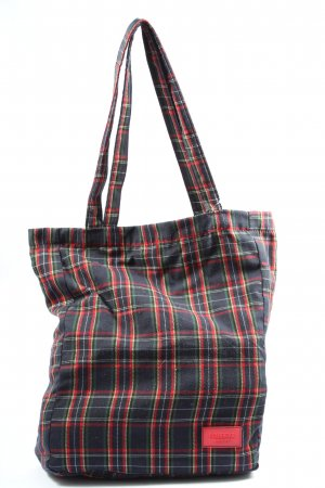 Pull & Bear Torebka materiałowa Wzór w kratkę W stylu casual