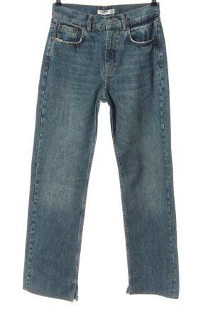 Pull & Bear Straight-Leg Jeans blau Casual-Look