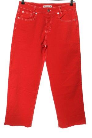 Pull & Bear Jeans coupe-droite rouge style décontracté
