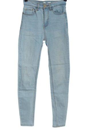Pull & Bear Jeansy ze stretchu niebieski W stylu casual