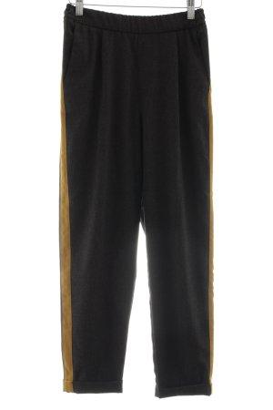 Pull & Bear Stretchhose schwarz-hellorange Street-Fashion-Look