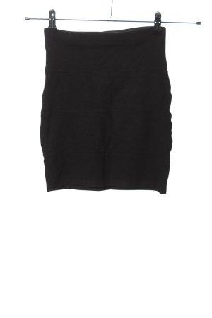 Pull & Bear Stretchrock schwarz Casual-Look