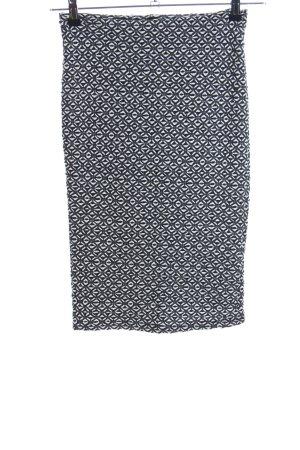 Pull & Bear Stretch rok zwart-wit volledige print casual uitstraling
