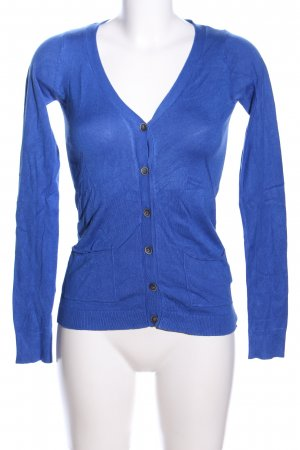 Pull & Bear Strick Cardigan blau Casual-Look
