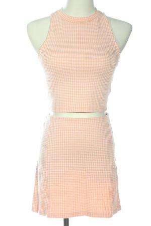 Pull & Bear Twin set in maglia color carne-bianco stampa integrale stile casual