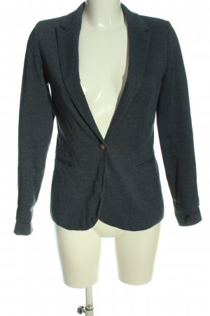 Pull & Bear Strickblazer schwarz meliert Business-Look