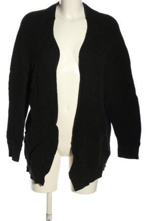 Pull & Bear Strickjacke schwarz Casual-Look