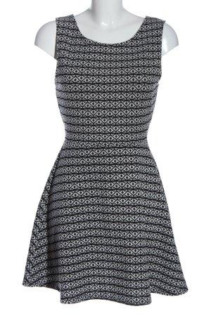 Pull & Bear Robe en maille tricotées noir-gris clair motif abstrait élégant