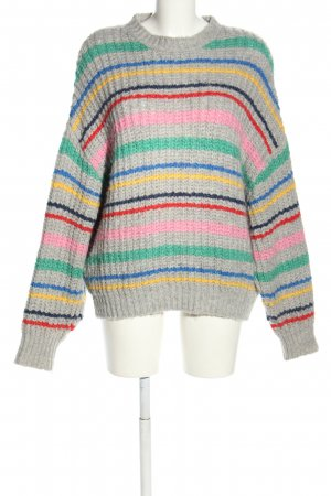 Pull & Bear Strickpullover Streifenmuster Casual-Look
