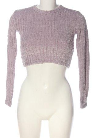 Pull & Bear Sweter z dzianiny różowy Wzór w paski Elegancki