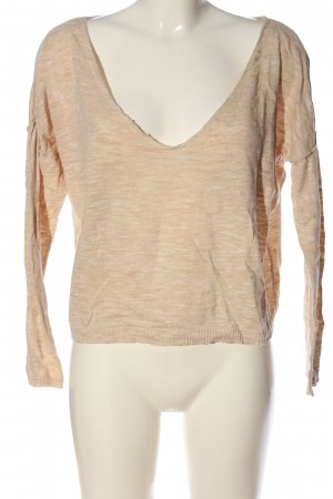 Pull & Bear Strickpullover creme meliert Casual-Look