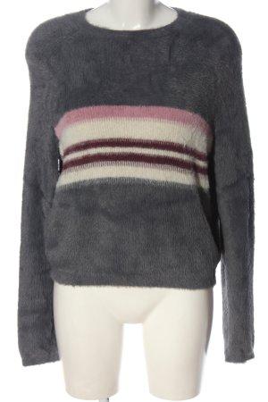 Pull & Bear Sweter z dzianiny Wzór w paski W stylu casual