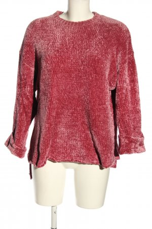 Pull & Bear Strickpullover pink Casual-Look