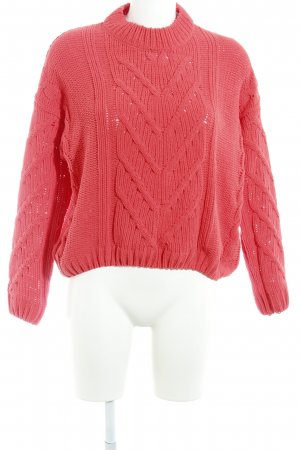Pull & Bear Strickpullover rot Casual-Look