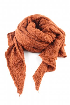 Pull & Bear Knitted Scarf light orange business style