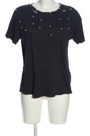 Pull & Bear Strickshirt schwarz Casual-Look