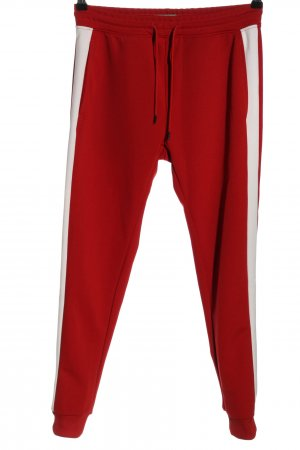 Pull & Bear Sweat Pants red-white casual look