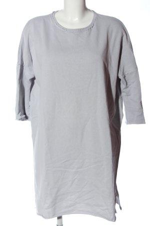 Pull & Bear Vestido de tela de sudadera gris claro look casual