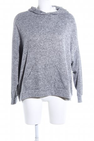 Pull & Bear Suéter gris claro moteado look casual