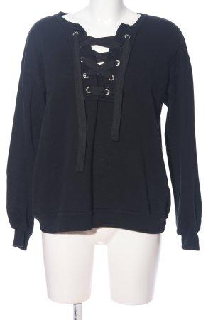 Pull & Bear Sweat Shirt black casual look