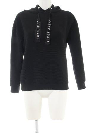 Pull & Bear Sweatshirt schwarz Schriftzug gedruckt Casual-Look