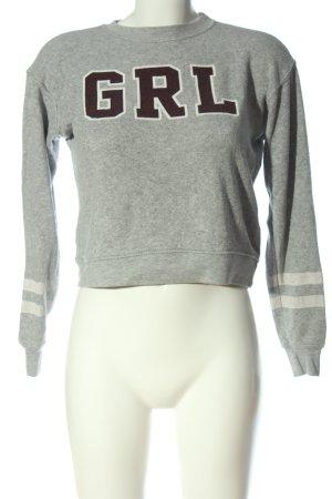Pull & Bear Sweatshirt Schriftzug gedruckt Casual-Look