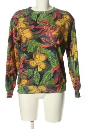 Pull & Bear Sweatshirt Blumenmuster Casual-Look