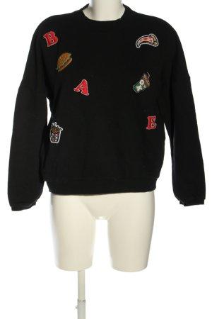 Pull & Bear Sweatshirt schwarz Casual-Look