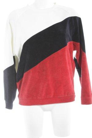 Pull & Bear Sweatshirt Streifenmuster Casual-Look