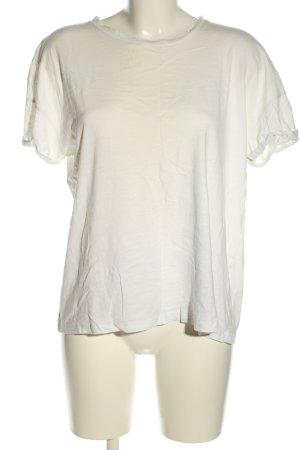 Pull & Bear T-Shirt weiß Casual-Look