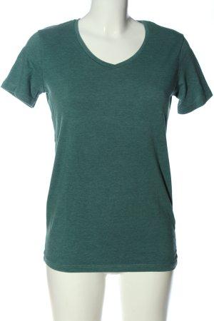 Pull & Bear T-Shirt grün meliert Casual-Look