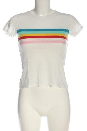 Pull & Bear Camiseta estampado a rayas look casual