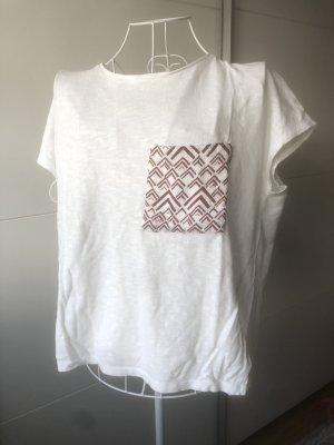 Pull & Bear T-Shirt weiß S 36
