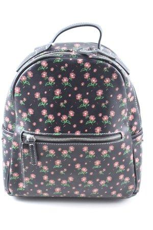 Pull & Bear Plecak Wzór w kwiaty W stylu casual