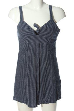Pull & Bear Robe à bretelles bleu-blanc imprimé allover style décontracté