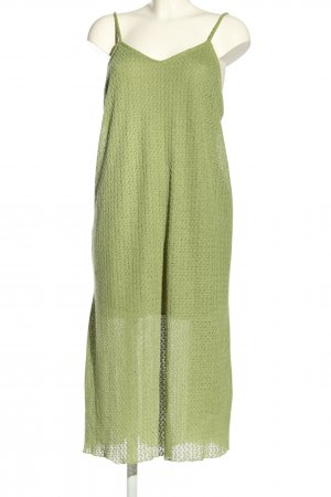 Pull & Bear Trägerkleid grün Allover-Druck Casual-Look