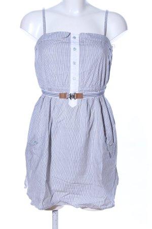 Pull & Bear Trägerkleid weiß-blau Streifenmuster Casual-Look