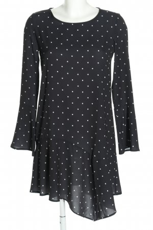 Pull & Bear Tunikabluse schwarz-weiß Punktemuster Casual-Look
