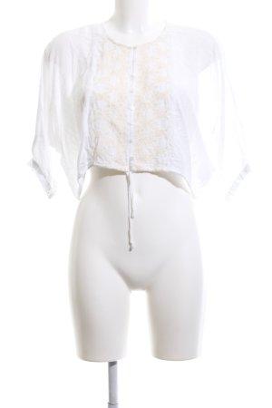 Pull & Bear Tunikabluse weiß Elegant