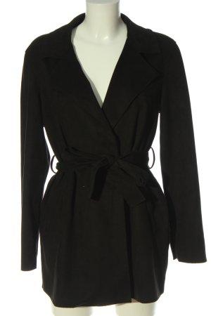 Pull & Bear Abrigo de entretiempo negro look casual