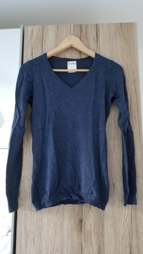 Pull & Bear Maglione con scollo a V blu-blu scuro
