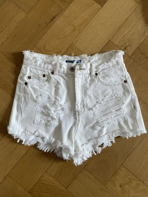 Pull&Bear White Jeans Shorts