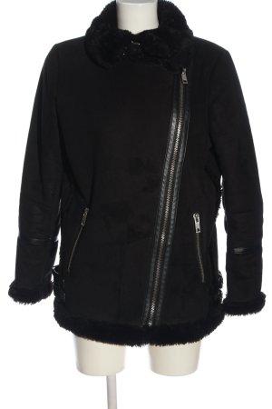 Pull & Bear Kurtka zimowa czarny W stylu casual