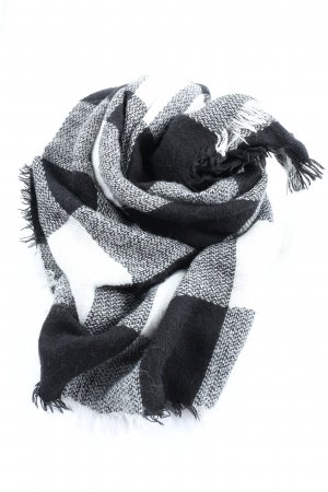 Pull & Bear Woolen Scarf black-white check pattern casual look