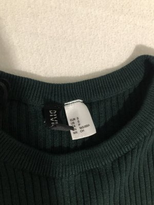 H&M Cárdigan de punto fino verde oscuro